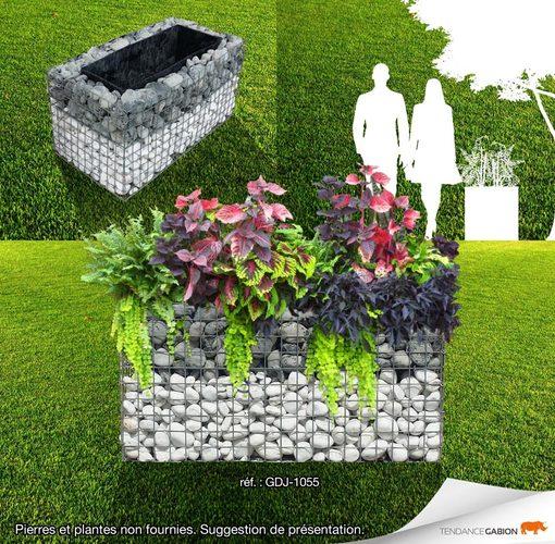 jardini re gabion 1m x 0 50m x 0 50m gabion d co. Black Bedroom Furniture Sets. Home Design Ideas