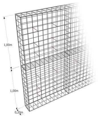 Gabion-Kit Optimized - mur de clôture - maille carrée - ligature spirale