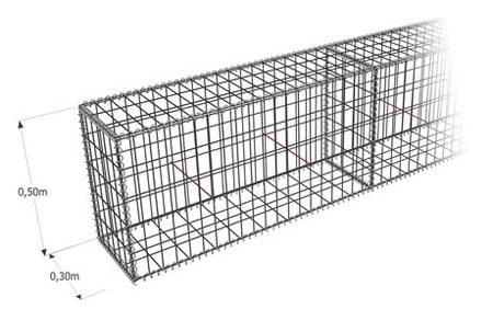Gabion-Kit Optimized - mur de clôture - mailles mixtes - ligature spirale