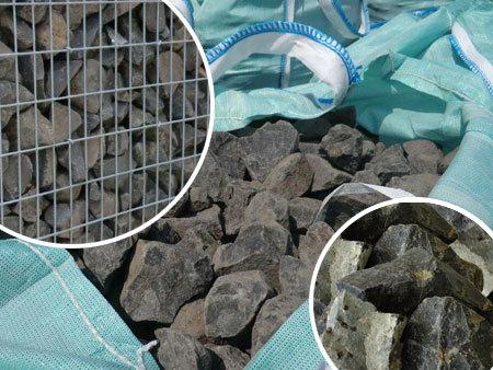 Pierre pour gabion  1000 Kg 0,6 M3 80/120 Noir Basalte
