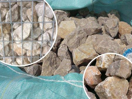 Pierre pour gabion 1000 Kg 0,6 M3 80/120 Rose beige Cavet